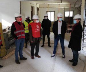 La primera fase del futuro centro de Cáritas en Pontevedra estará finalizada en diciembre
