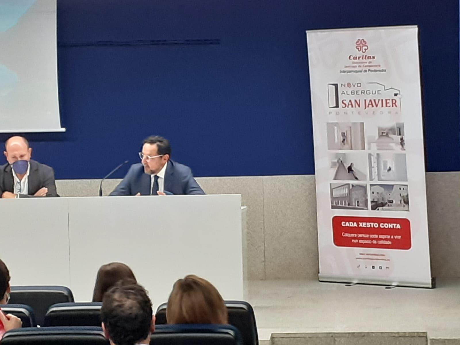 Juristas expertos en derecho privado de Galicia se vuelcan con el proyecto del nuevo albergue de Cáritas en Pontevedra